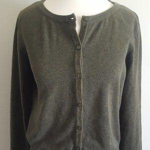 H&M Long Sleeve Olive Cardigan - Med